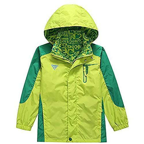 Regenjacke Jungen Jungen Jacke Geeignet Zum Wandern und Campen ()