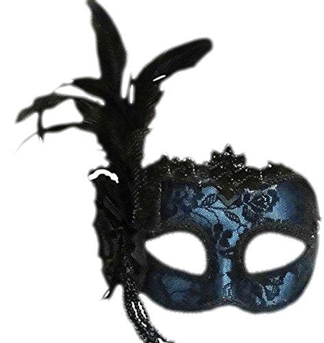 senen Karneval Faschingsmaske Venezianische Maske, Mehrfarbig (Venezianische Piraten Maske)