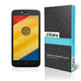 Kaira Motorola Moto C Plus Screen Protector, Premium Oil Resistant Coated Tempered Glass Screen Protector Film Guard for Motorola Moto C Plus