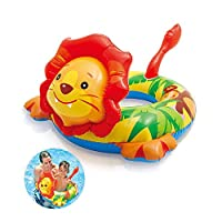 Peedeu Swimming Rings, Inflatable Pool floaties Animal Swim Ring rubber ring PVC material with Handle Anti-drowning for kids boys Girls 3-4 Years