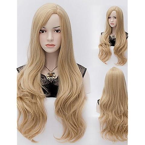 BBDM onda naturale blone colore capelli lunghi parrucche sintetiche dell'onda parrucche stile di moda , blonde