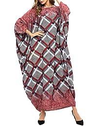 Abaya Mujer Vestidos Arabe Kaftan - Traje Largo de Oración Ropa Largo Manga Larga Islámica Musulmán