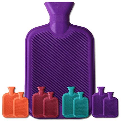 Wärmflaschen lila - violett 2 Liter
