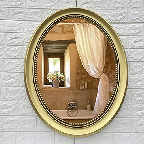 M-YN Wandspiegel, Europäische Retro Badezimmerspiegel, Kosmetikspiegel, Rasierspiegel, Wand Kleidung Spiegel, dekorative Hanging Spiegel, Schlafzimmer kreativer Dekorative (57 * 72cm) (Color : E)