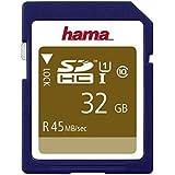 Hama Class 10 SDHC 32GB Speicherkarte (UHS-I, 45Mbps)