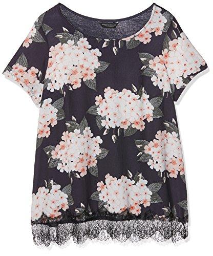 Dorothy Perkins Floral Lace Hem, T-Shirt Femme Beige (Nude)
