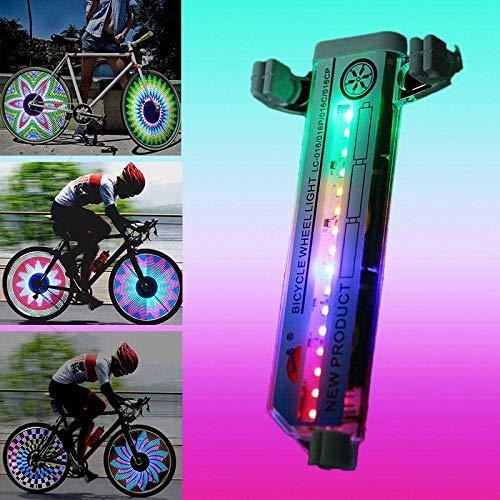 Whale city 32-Modus-LED Bunte Fahrradreifen Speichensignal Licht - für die Fahrradsicherheit (2 Stück)