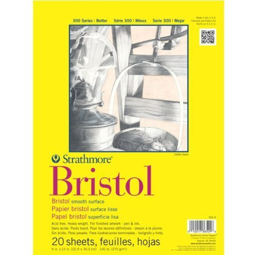 strathmore-artist-papers-300-series-bristol-board-paper-pad-smooth-surface-9-x-12