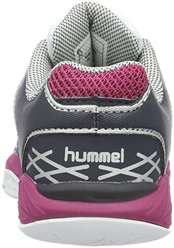 Hummel Omnicourt Z4 Jr, Scarpe Sportive Indoor Bambina Rosa (Sangria)