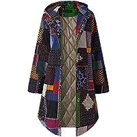 TWBB Winter Lange Hoodie Mantel,Wintermantel Afrikanisch Drucken Mäntel mit Kapuze Winterjacke Jacke Outwear Parka Jacke StrickjackeOutwear