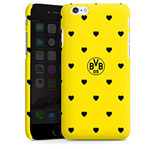 Apple iPhone X Silikon Hülle Case Schutzhülle Borussia Dortmund BVB Herzen Premium Case matt