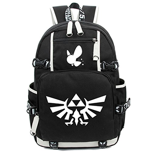 Siawasey Anime The Legend of Zelda Cosplay Luminous Segeltuch Daypack Laptop Rucksack Schultertasche Schultasche