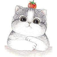 Lindo gato patrón de ropa apliques de parche de hierro en la transferencia de etiquetas térmicas