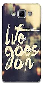 The Racoon Lean printed designer hard back mobile phone case cover for Samsung Galaxy A5. (life goes)