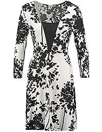 Anna Field robe femme a ligne en noir et blanc Cocktail, robe avec manches  mini b9fdc2175594