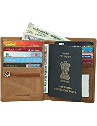 Style98 Brown Pure Leather Men's Travel Wallet|| Zipper Passport Pouch||Passport Wallet||Passport Holder||Travel Wallet