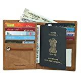 Best International Travel Purses - Style98 Brown 100% Hunter Leather Travel Passport Wallet||Passport Review