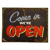 Blechschild 'Open/Close' Geöffnet | Geschlossen | Ladenschild | Schild Öffnungszeiten | Eisen | Eisenbild | Dekoration | Vintage | Shabby | 50s | Dekoration Geschäft | Geschenkidee | Geschenkidee zur Eröffnung | Preis am Stiel