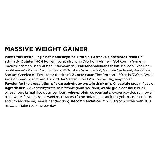 ESN Massive Weight Gainer, Chocolate Cream, 4kg - 3