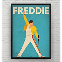 Freddie Mercury Poster - Music Wall Art Print Decor Room Gift - Frame Not Included