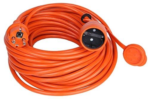 garten kabel Verlängerungskabel Verlängerung Strom-Kabel Mit Schuko Garten IP44 ORANGE (30 Meter)