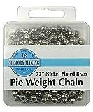 R&M International 2719 Kuchen-Gewichtskette, Messing, vernickelt, 183 cm Pie Weight Chain 6' silber