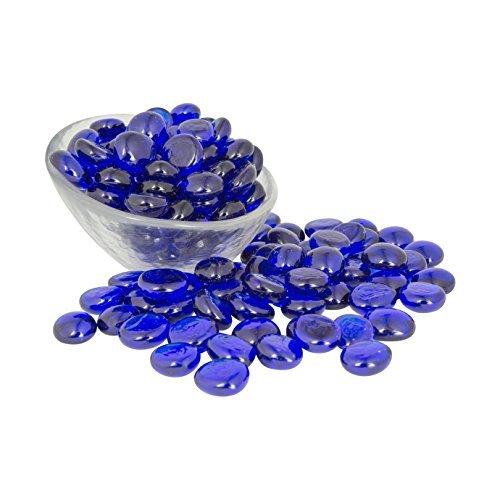 kobaltblau Glas Gems 1lbs.-füllt 11/4Tassen Vol.-ungiftig bleifrei Vase, Tisch Scatter, Aquarium Filler-Schöne, glatte, Spaß, lebhafte Farben handgefertigt in den USA