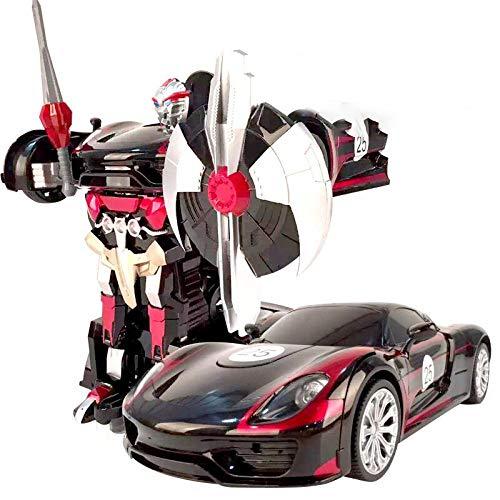 XIAOLONGY Teledirigido Un Botón Transformers Robot Car Carga Niños De Gran Tamaño Modelo Juguete 34 * 14.5 * 11,Porsche918