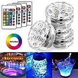 StillCool Unterwasser Licht Unterwasserbeleuchtung Multicolor RGB Controller Leuchte Deko Licht für...