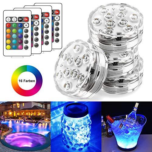 StillCool Unterwasser Licht Unterwasserbeleuchtung Multicolor RGB Controller Leuchte Deko Licht für Garten, Aquarium, Vase, Badewanne, Pool oder Spa -