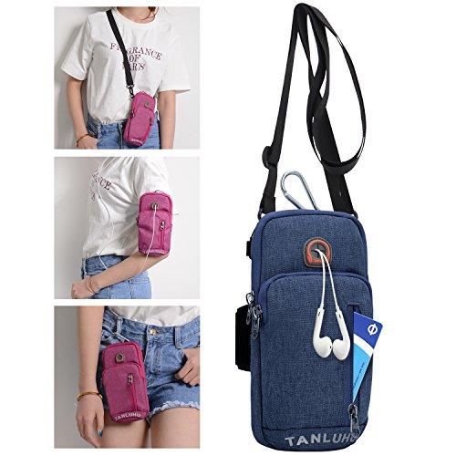 7c7644e51 BAGZY Running Armband Phone Holder Passport Travel Wallet Bag Money Belt  Waist Pouch Shoulder Holsters Cross