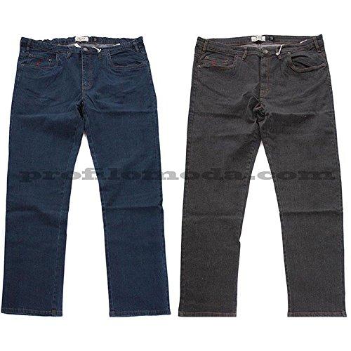 Jeans Maxfort strech taglie forti uomo - Blu scuro, 66 GIROVITA 132 CM
