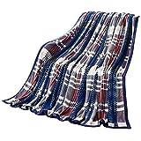 SUNNY KEY--Mantas para cama @ Franela Múltiples colores,Sólido Ajedrez 100% Poliéster mantas 200x230cm