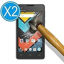 WoowCase 9H Tempered Glass [2 Unidades] Protector de Pantalla para [ Energy Phone Neo 2 ] Cristal Vidrio Templado Premium, Ultra Resistente a Arañazos, Dureza 9H