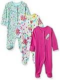 #8: Mothercare Baby Girls' Sleepsuit (Pack of 3) (H7359-1-multicoloured_NEWBORN)