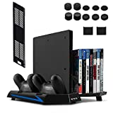 Keten supporto verticale per PS4 Slim/PS4 Con Ventilatore 2 in 1 base di ricarica Playstation 4 Games Gioco elagerung e 3 Port USB Hub di un gioco.
