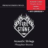 Fire and Stone 665630 Cordes pour Guitare Acoustique Jeu Phosphor Bronze