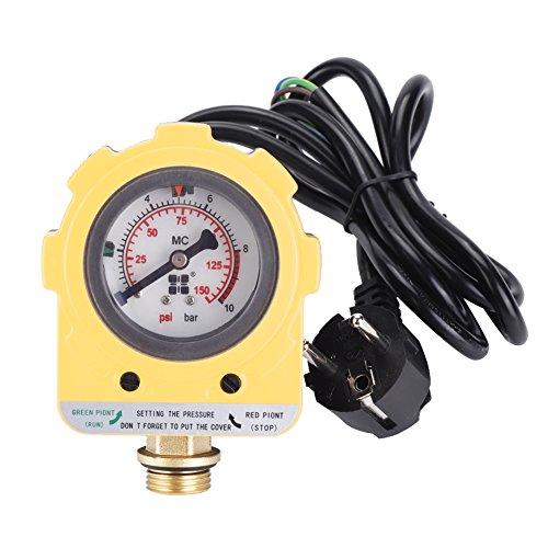 220V 0~10 bars Interrupteur Électronique Unité de Pressostat Réglable Pour Bompe à Eau (Prise de l'UE)