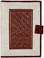 Tribes India Handicrafted Jute File Folder With Zip, 14 inch x 10 inch