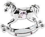 Christening Gift. Rocking Horse - Girls Pink with Swarovski Crystals by The Emporium Christening Gifts