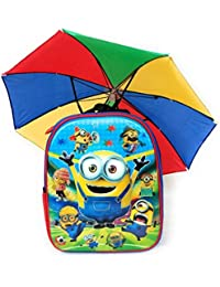 Kids School Bags For Boys & Girls With Umbrella Hat. (Age 2 To 5 Years) Bagpack Suitable For Pre Nursery To First...
