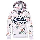 Superdry Damen Sweatshirt Vintage Logo Rose AOP Entry Hood Weiss (100) XL