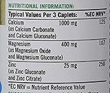 Nature's Bounty Calcium, Magnesium and Zinc Coated Caplets - Pack of 100
