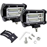 Rokoo 2 piezas de 5 pulgadas 72W LED barra de luz de trabajo de conducción de la inundación de la lámpara Jeep barco de camiones Offroad Cool Lights