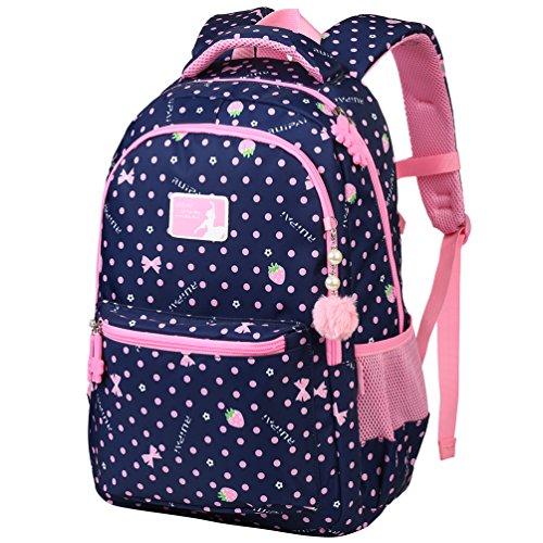 Vbiger zaino per bambini borsa da scuola adorabile all'aperto casual daypack per gli studenti delle scuole elementari(blu reale)