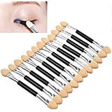 DALUCI 12 PCS Makeup Double-End Eye Shadow Sponge Brushes Applicator Cosmetic Beauty Tool
