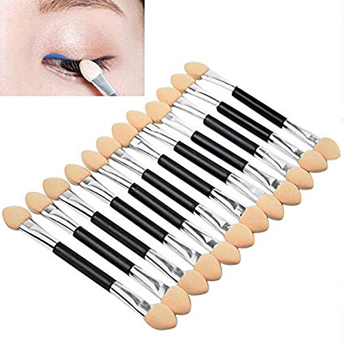 DALUCI Makeup Double-End Eye Shadow Sponge Brushes Applicator Cosmetic Beauty Tool -12 Pieces