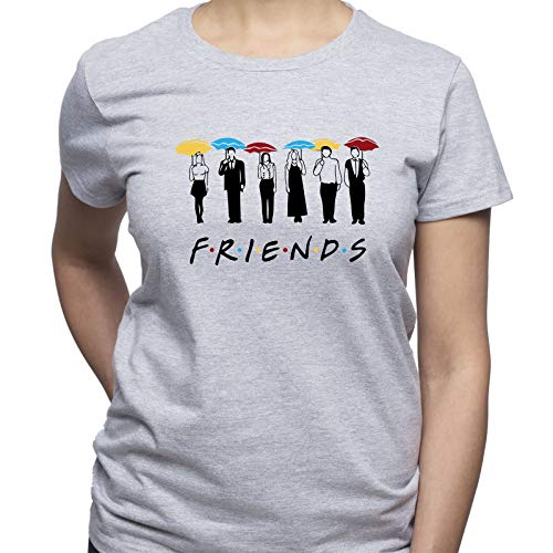 Click for larger image of EUGINE DREAM Friends Umbrellas Friends Tshirt Women's T-Shirt Grey XL
