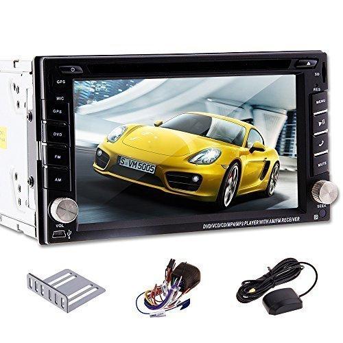 6.2 Zoll 2 Din In dash Car DVD GPS Navigation Autoradio Universal Player Touchscreen Bluetooth USB bis 32 GB /MicroSD not including gps card