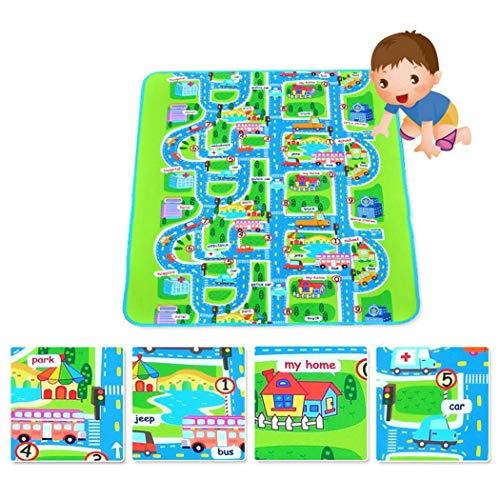 amilses Kinder Baby ungiftig Straßenverkehr Auto Stadt Stadt Karte Safe Area Spiel Crawling Spielmatte Teppiche & Läufer (Stadt-teppich Für Kinder)